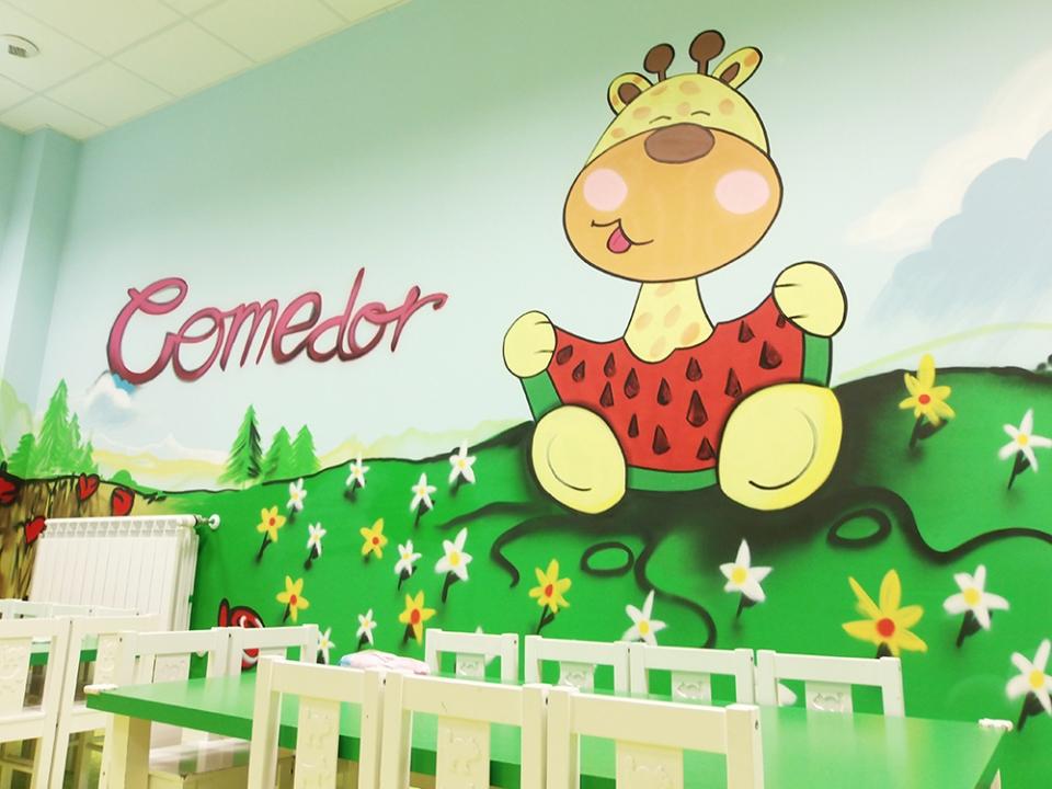 Como decorar un comedor escolar infantil casa dise o for Comedor infantil